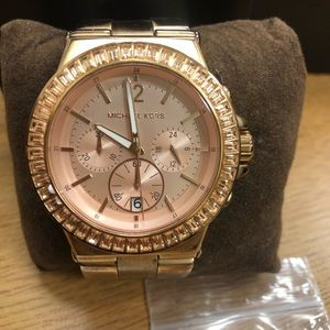 Michael Kors Rose Gold Chrono MK5412 Glitz Watch